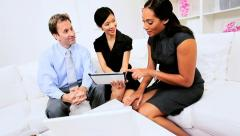 Informal Multi Ethnic Business Team Office Meeting - stock footage