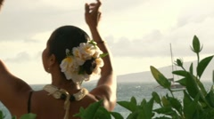 Beautiful Hawaiian Dancer Dancing 2 Stock Footage