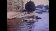 Stock Video Footage of Paris River Seine 8mm Cine