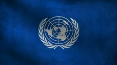 United Nations flag. Stock Footage