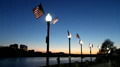 Georgetown Waterfront at night | Washington DC - stock footage