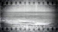 Beach Film Vintage Stock Footage