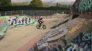 Stock Video Footage of Crazy BMX Crash - Fall from height