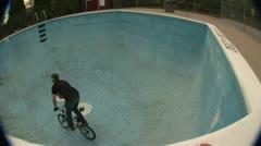 BMX - Abandoned Pool Riding Stock Footage