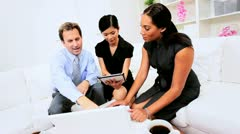 Business Team Hearing News Success Stock Footage
