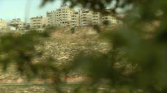 Arab Village beyond Trees Stock Footage