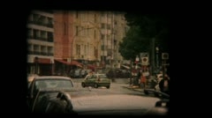 Vintage Film Reel - Super 8mm of European Streets Stock Footage