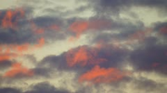 Red Morning Clouds Stock Footage