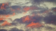 Stock Video Footage of Red Morning Clouds