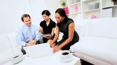 Advertising Team Hearing News Success - stock footage