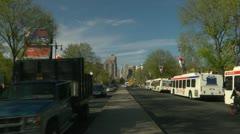 City Hall Zoom on Broad street Stock Footage