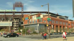 Citizens bank park pan Stock Footage
