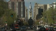 Stock Video Footage of Broad street cars Philadelphia