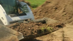 Big Machinery Doing Landscaping Work Stock Footage