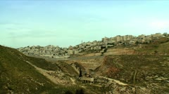 Arabic Village next to a Valley 3 - stock footage