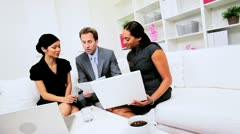 Smart Young Business People Team Meeting Stock Footage