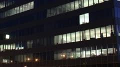 Getting Dark Over Office Buildings Timelapse overwork 02 - stock footage