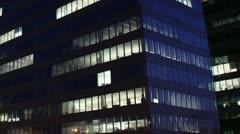 Getting Dark Over Office Buildings Timelapse overwork 03 - stock footage