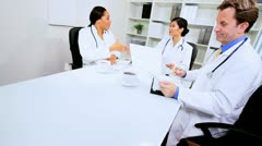 Boardroom Meeting Medical Executives Stock Footage