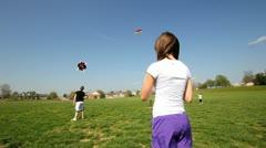 Multiple kites flying Stock Footage