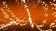 Stock Video Footage of Particle Flow in Red Orange Loop