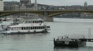 Ship on Danube Budapest Hungary 60 fps native slowmotion Stock Footage