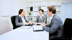 Business Executives Concluding Financial Meeting Stock Footage