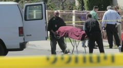 Stock Video Footage of Crime Scene Coroners van
