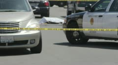 Dead Body Crime Scene Tape Stock Footage