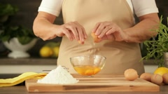 Stirring eggs Stock Footage