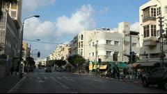 Ben Yehuda Street in Tel Aviv Israel Stock Footage