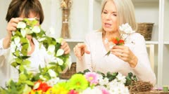 Retirement Leisure Flower Arranging Stock Footage