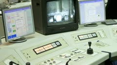 Nuclear Power Refuelling control Station - stock footage