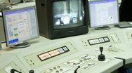 Stock Video Footage of Nuclear Power Refuelling control Station