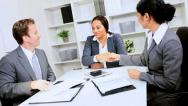 Business Executive Concluding Financial Meeting Stock Footage