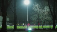 Stock Video Footage of Soccer action in night
