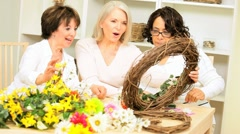 Hands Senior Ladies Crafting - stock footage