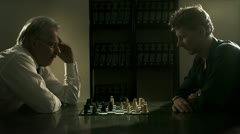 The Art of Conflict (concept) - Check mate move Stock Footage