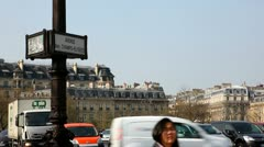 Stock Video Footage of Avenue des Champs-Elysees sign