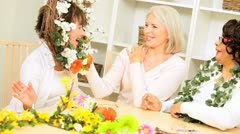 Retirement Female Friends Craft Group - stock footage