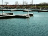 Stock Video Footage of Empty mooring Docks PAL