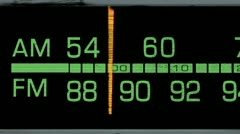 AM FM Car Radio Dial - stock footage