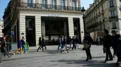 The Avenue des Champs-Élysées Stock Footage