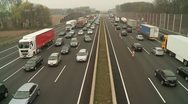 Congestion on a Highway, Germany Stock Footage