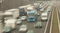 Congestion on a Highway, Germany - stock footage
