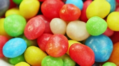 Multicolor bonbon sweets rotating food background Stock Footage