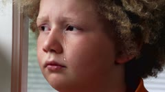 Young Boy Crying Stock Footage