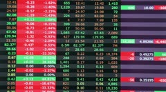 Stock market in red, realtime Stock Footage