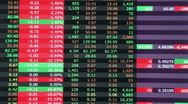 Stock Video Footage of Stock market in red, realtime