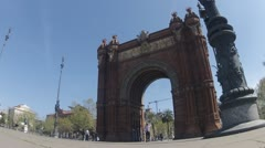 CLIP4 Arc de Triomf Stock Footage